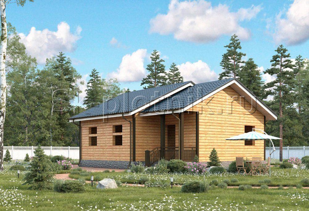 Одноэтажный деревянный дом ДС-53