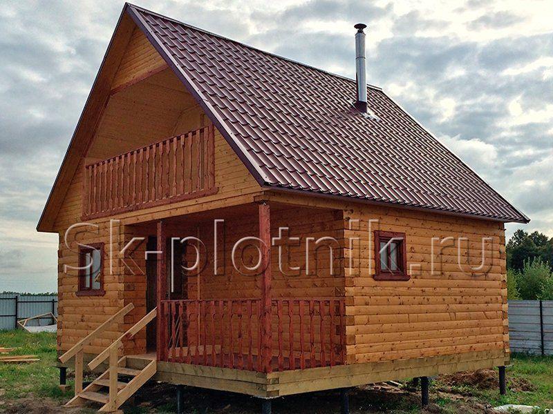 Отзыв об объекте «Брусовая баня 6х6 с каркасной мансардой в Калужской области»