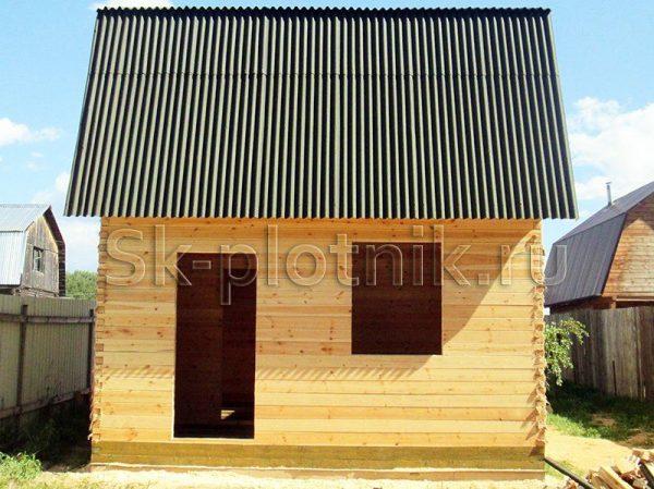Отзыв об объекте «Сруб дома из бруса 6х5 м. с каркасной мансардой, Орехово-Зуевский район»