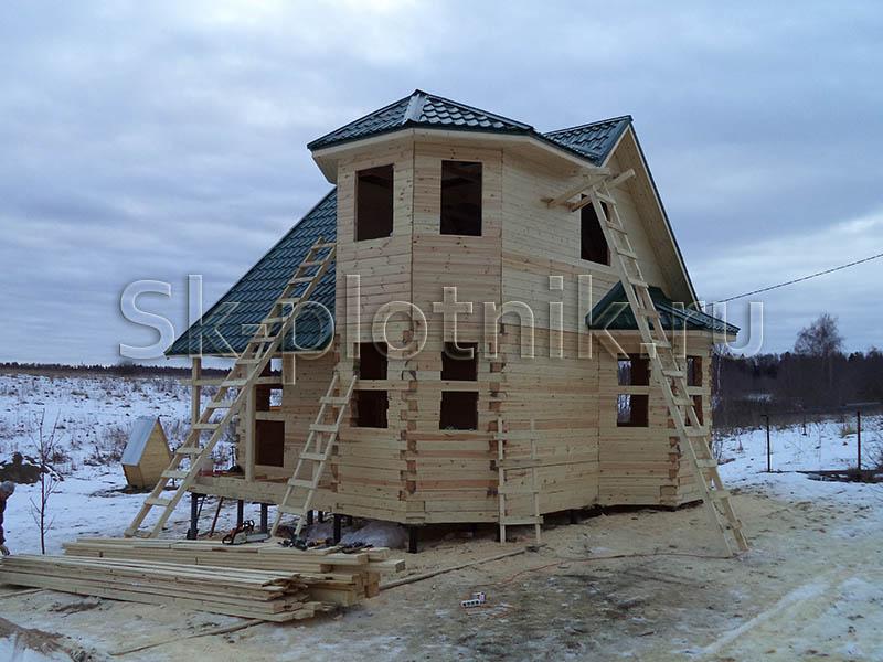 Отзыв об объекте «Сруб дома по индивидуальному проекту с каркасной мансардой, Тульская область»