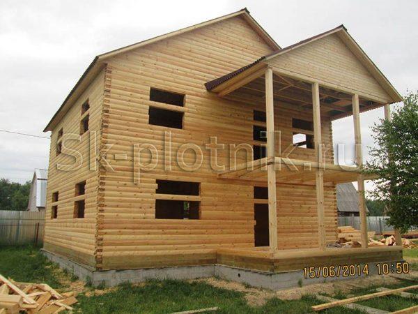 Двухэтажный дом из бруса и не только
