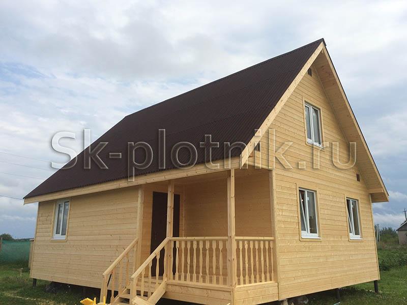 Отзыв об объекте «Каркасный дом в два этажа с мансардой 7.5х9, деревня Полично, Псковская область»