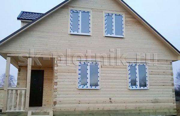 Угловой дом из бруса 8×8 м