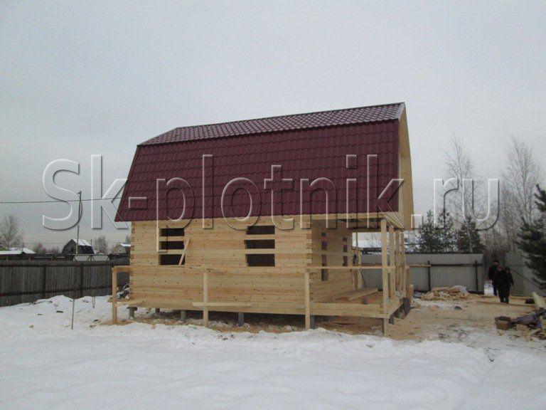 Отзыв об объекте «Сруб дома из профилированного бруса 6х8 м. в Электрогорске»