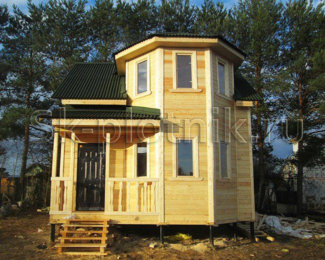 Отзыв об объекте «Полутораэтажный брусовый дом 6х7 м. с каркасной мансардой, Одинцовский район»