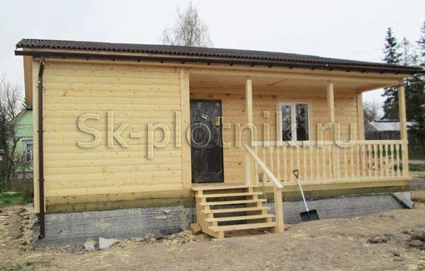 Отзыв об объекте «Одноэтажный дом из бруса с террасой в ЛО»