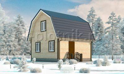 Дачный дом из бруса с мансардой Д-11