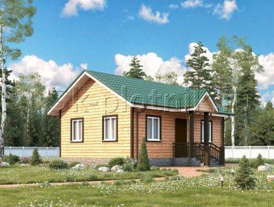 Каркасный одноэтажный дом ДК-51