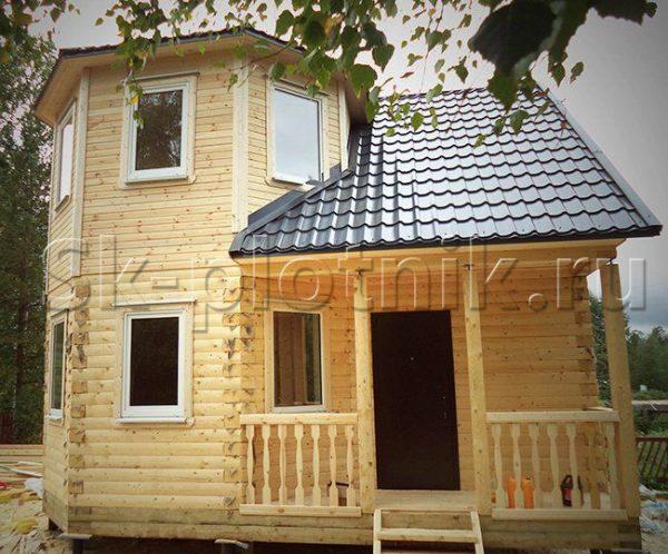 Отзыв об объекте «Брусовый дом 7х7 м. с каркасной мансардой в Костомукше»