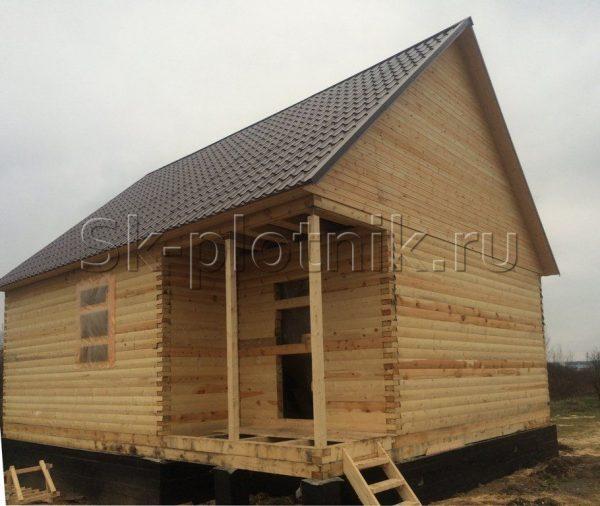 Отзыв об объекте «Сруб дома из профилированного бруса 7.5х9 м. в Новгородском районе»