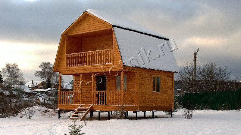 Строительство дома из бруса 6 на 6 м  в Тульской обл