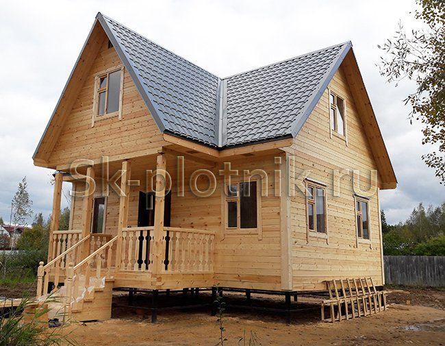 Отзыв об объекте «Двухэтажный дом из бруса с мансардой 6х8 м. в МО»