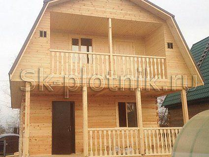 Отзыв об объекте «Дом из бруса с террасой и балконом 6х8 м.»