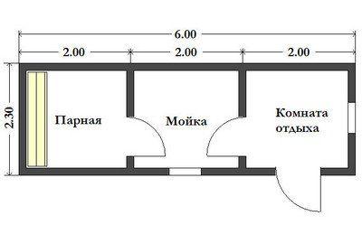 Готовая баня 2.3х6 м. Картинка №1