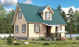 Дом из бруса 150x150 Д-27