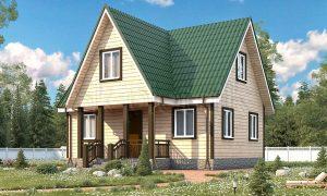 Каркасный дом с санузлом ДК-28