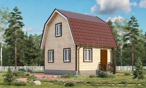 Проект дачного дома из бруса 5х6 Д-6