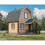 Небольшой дом из бруса 4х5 Д-3. Миниатюра №1