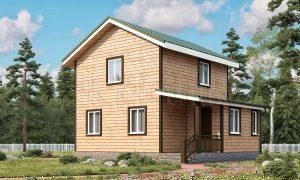 Проект двухэтажного дома из бруса Д-15