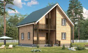 Двухэтажный брусовой дом 8х8 Д-24