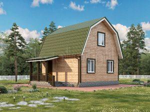 Каркасный дом с мансардой ДК-13