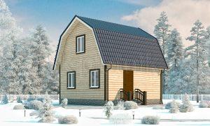 Дачный дом из бруса 6х6 с мансардой Д-11
