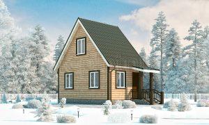 Дачный дом из бруса 4х6 с мансардой Д-5