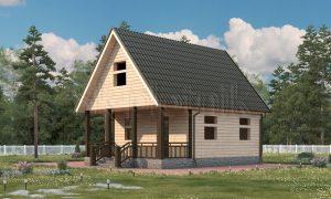 Дом из бруса с мансардой ДС-4