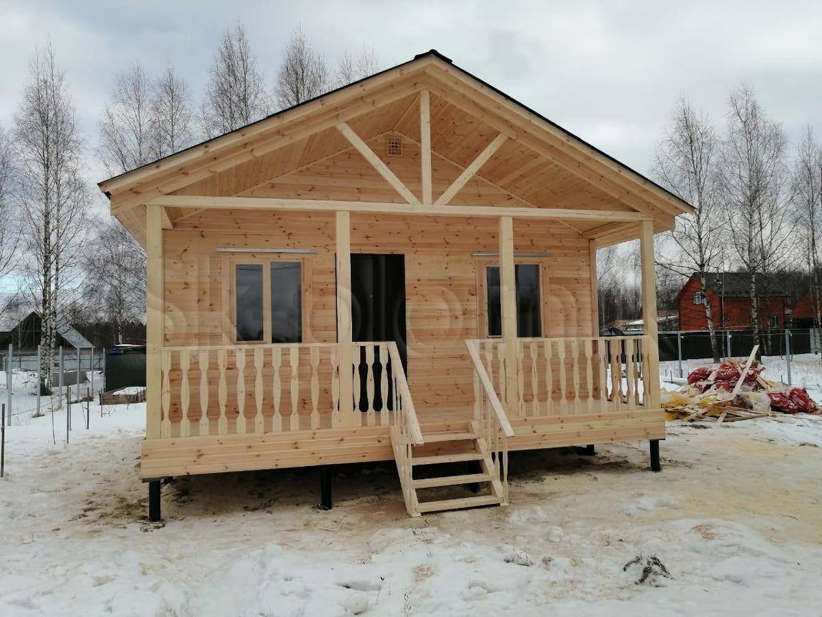 Каркасный дом 6 на 6 м в деревне Новокарцево Московской обл.