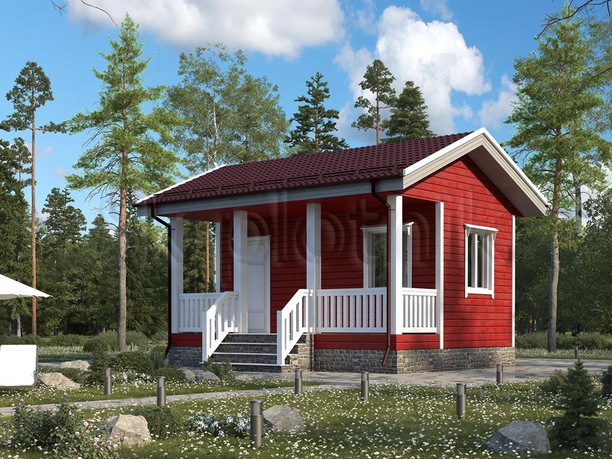 Каркасный дом 4,5х6 ДК-68