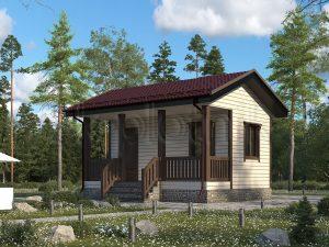 Дачный дом из бруса 5х6 Д-68