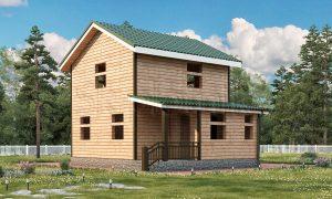 Дом из бруса с санузлом ДС-15