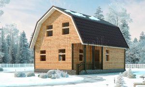 Зимний дом из бруса 7х8 с котельной ДС-19