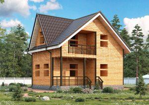 Дом из бруса с балконом ДС-31