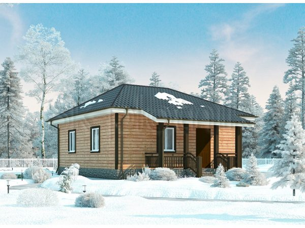 Дом из бруса с санузлом Д-48. Картинка №1