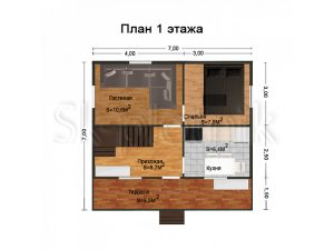 Дом из бруса 7х7 Д-8