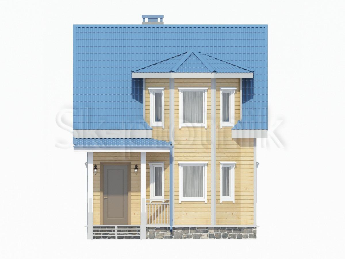 Каркасный дом с эркером ДК-23