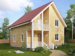 Загородный деревянный коттедж ДК-24