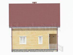 Каркасный дом с балконом ДК-24