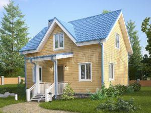 Каркасный дом с санузлом ДК-21