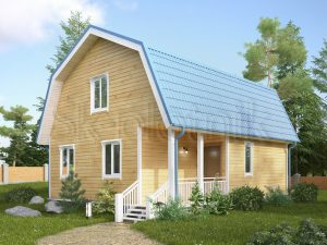 Каркасный дом с котельной ДК-19