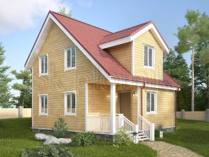 Каркасный дом с санузлом ДК-36