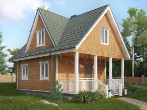 Каркасный дом с мансардой ДК-4