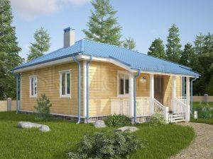 Каркасный дом с санузлом ДК-48