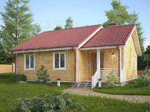 Каркасный дом с санузлом ДК-53