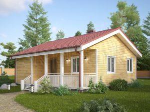 Каркасный дом с санузлом ДК-54