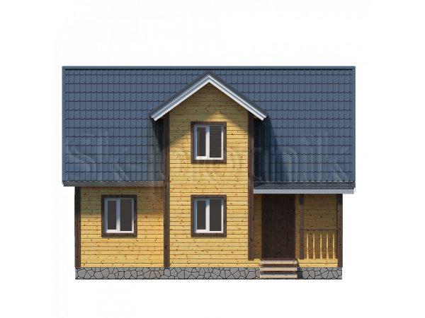 Проект дома 7х9 из бруса Д-37. Картинка №1