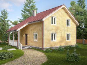 Дом из бруса с котельной Д-34