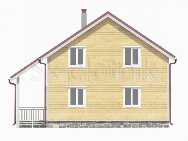 Дом из бруса 10х10 с котельной Д-34. Картинка №1