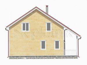 Дом из бруса 10х10 с котельной Д-34
